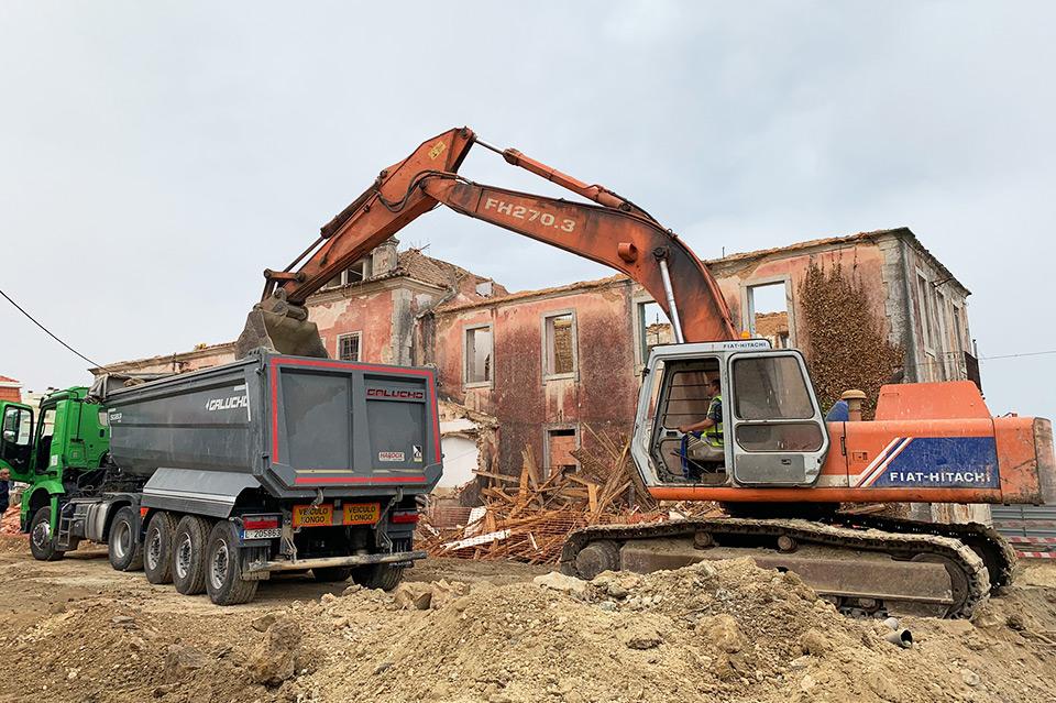 Remoção de terras